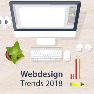 Artikelbild von 10 Webdesign-Trends für 2018