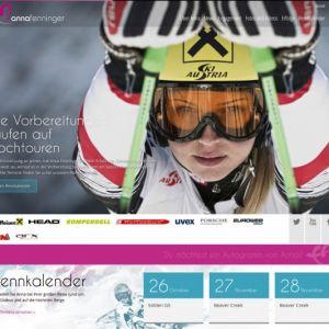 Artikelbild von Anna Fenninger startet mit neuer Website in die Saison