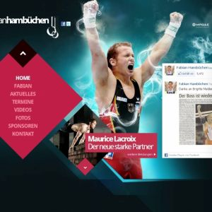Artikelbild von New Internet Page for Fabian Hambuechen
