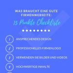 Checkliste für eine gute Unternehmensseite