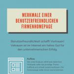 Benutzerfreundlichkeit von Webseiten - Infografik